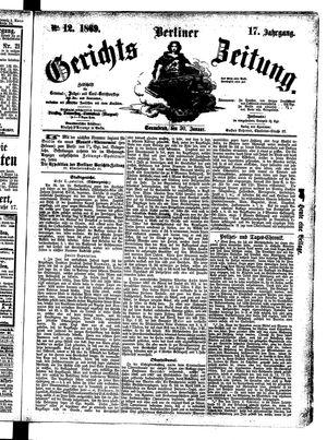 Berliner Gerichts-Zeitung vom 30.01.1869