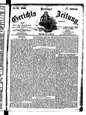 Berliner Gerichts-Zeitung vom 04.02.1869