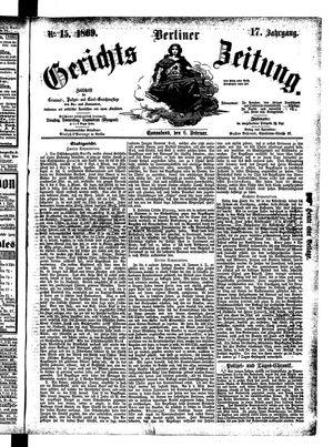 Berliner Gerichts-Zeitung vom 06.02.1869