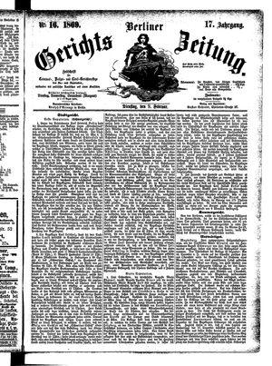 Berliner Gerichts-Zeitung vom 09.02.1869