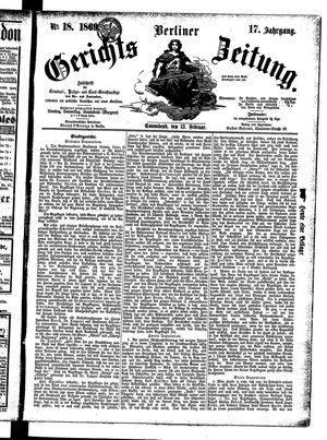 Berliner Gerichts-Zeitung vom 13.02.1869