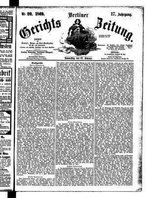 Berliner Gerichts-Zeitung on Feb 18, 1869