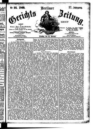 Berliner Gerichts-Zeitung on Feb 23, 1869