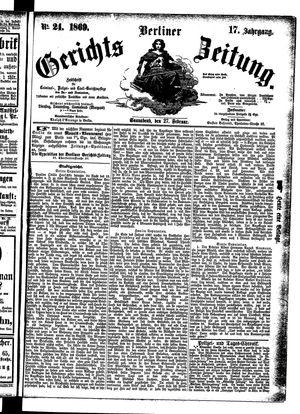 Berliner Gerichts-Zeitung vom 27.02.1869