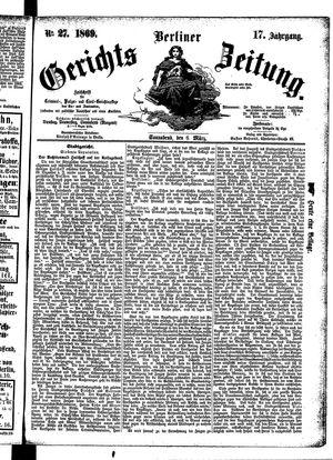 Berliner Gerichts-Zeitung vom 06.03.1869