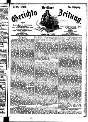 Berliner Gerichts-Zeitung on Mar 9, 1869