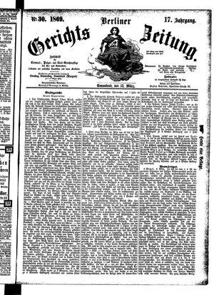 Berliner Gerichts-Zeitung on Mar 13, 1869