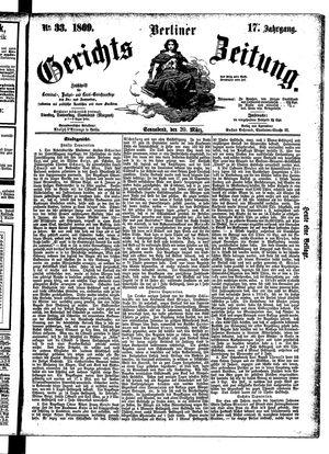 Berliner Gerichts-Zeitung vom 20.03.1869