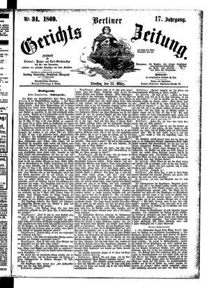 Berliner Gerichts-Zeitung vom 23.03.1869