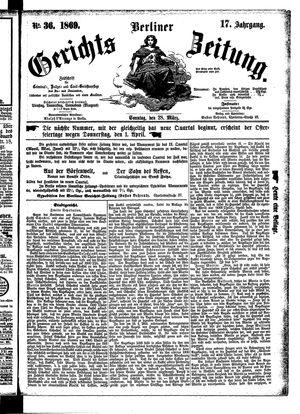 Berliner Gerichts-Zeitung vom 28.03.1869
