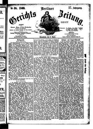 Berliner Gerichts-Zeitung vom 03.04.1869