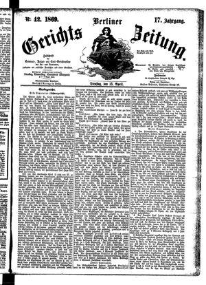 Berliner Gerichts-Zeitung vom 13.04.1869