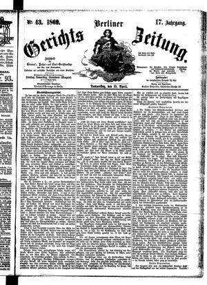 Berliner Gerichts-Zeitung on Apr 15, 1869
