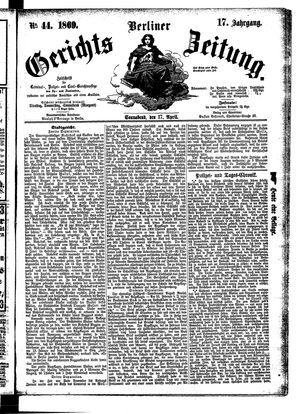 Berliner Gerichts-Zeitung on Apr 17, 1869