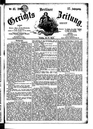 Berliner Gerichts-Zeitung vom 27.04.1869