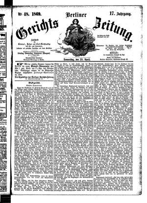 Berliner Gerichts-Zeitung on Apr 29, 1869
