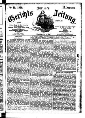 Berliner Gerichts-Zeitung vom 01.05.1869