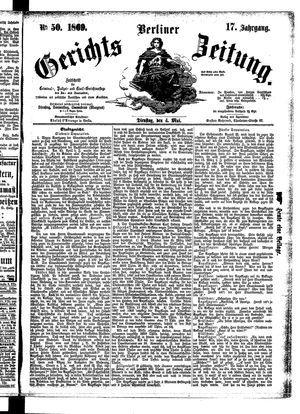 Berliner Gerichts-Zeitung vom 04.05.1869