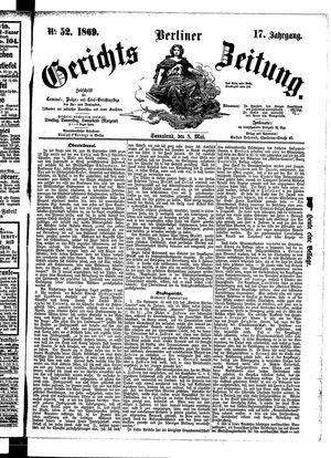 Berliner Gerichts-Zeitung on May 8, 1869