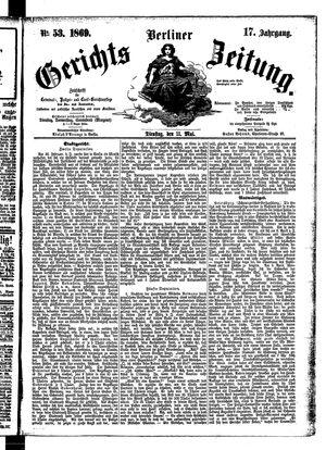 Berliner Gerichts-Zeitung on May 11, 1869