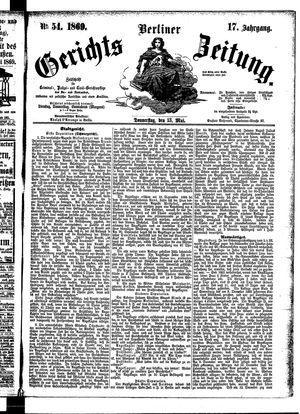 Berliner Gerichts-Zeitung vom 13.05.1869