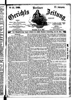 Berliner Gerichts-Zeitung vom 15.05.1869