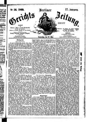 Berliner Gerichts-Zeitung vom 20.05.1869