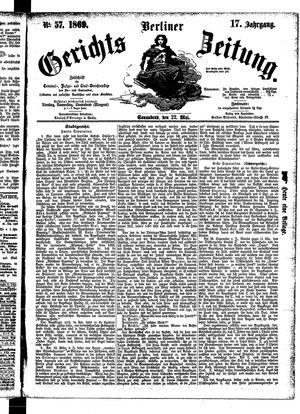 Berliner Gerichts-Zeitung vom 22.05.1869