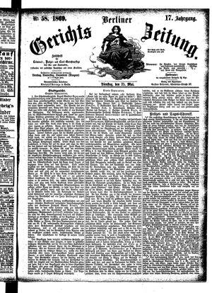 Berliner Gerichts-Zeitung on May 25, 1869