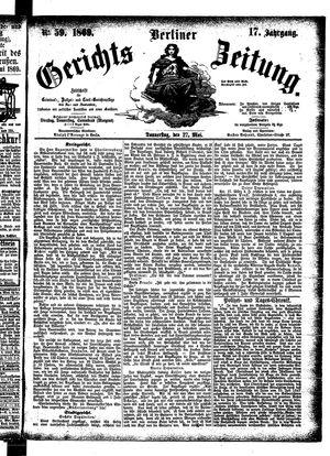 Berliner Gerichts-Zeitung vom 27.05.1869