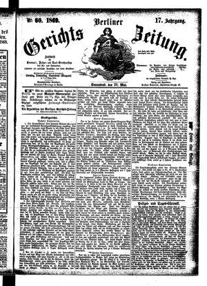 Berliner Gerichts-Zeitung vom 29.05.1869