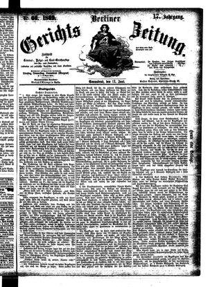 Berliner Gerichts-Zeitung vom 12.06.1869
