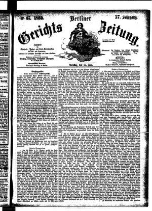 Berliner Gerichts-Zeitung vom 15.06.1869
