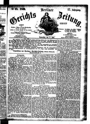 Berliner Gerichts-Zeitung vom 17.06.1869