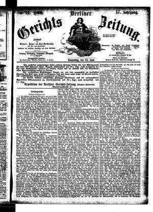 Berliner Gerichts-Zeitung vom 24.06.1869