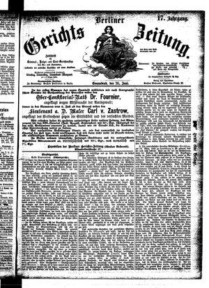 Berliner Gerichts-Zeitung vom 26.06.1869