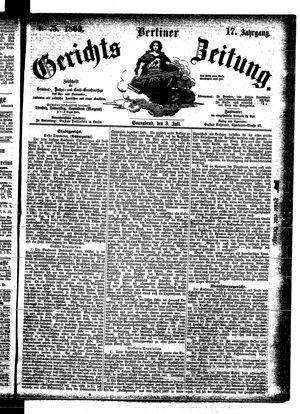 Berliner Gerichts-Zeitung on Jul 3, 1869
