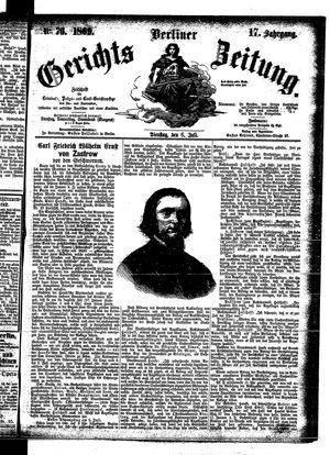 Berliner Gerichts-Zeitung vom 06.07.1869