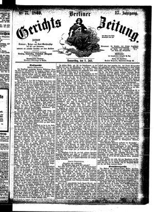 Berliner Gerichts-Zeitung vom 08.07.1869