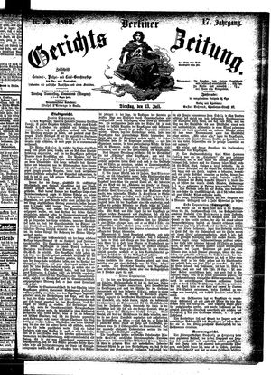 Berliner Gerichts-Zeitung vom 13.07.1869