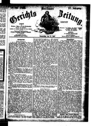 Berliner Gerichts-Zeitung vom 15.07.1869