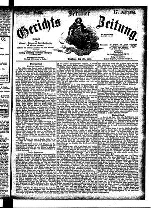 Berliner Gerichts-Zeitung vom 20.07.1869