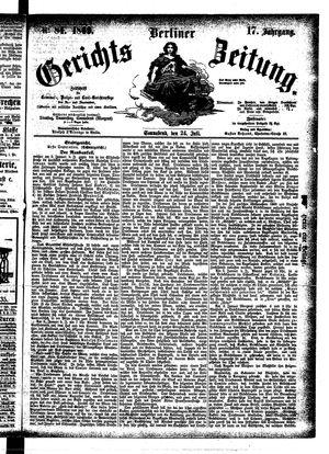 Berliner Gerichts-Zeitung vom 24.07.1869