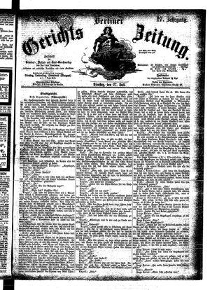 Berliner Gerichts-Zeitung vom 27.07.1869