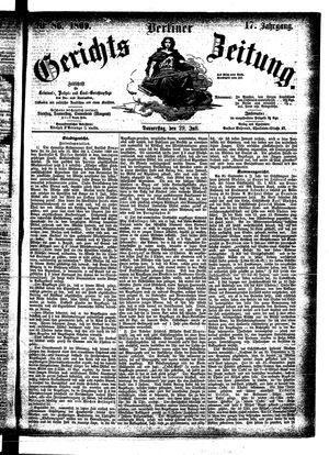 Berliner Gerichts-Zeitung vom 29.07.1869