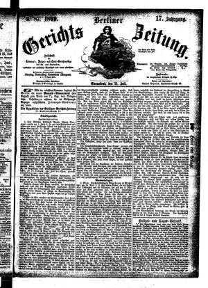 Berliner Gerichts-Zeitung on Jul 31, 1869