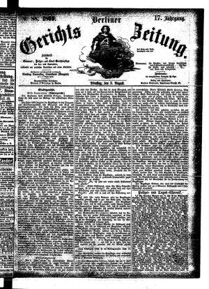 Berliner Gerichts-Zeitung on Aug 3, 1869