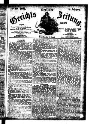 Berliner Gerichts-Zeitung vom 05.08.1869