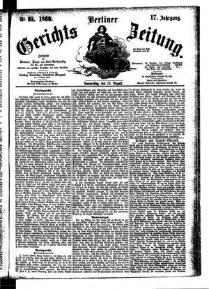 Berliner Gerichts-Zeitung vom 19.08.1869