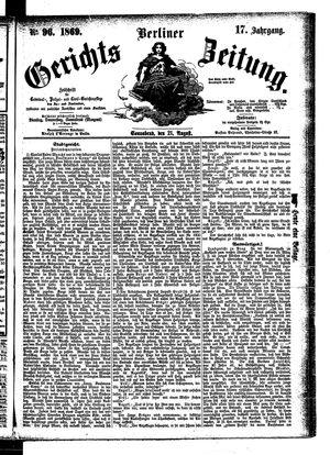 Berliner Gerichts-Zeitung vom 21.08.1869